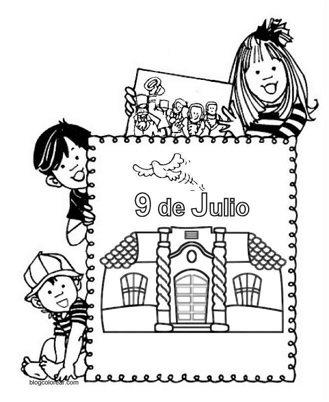 dia-de-la-independencia-argentina-para-colorear-argentina-9-de-julio ...