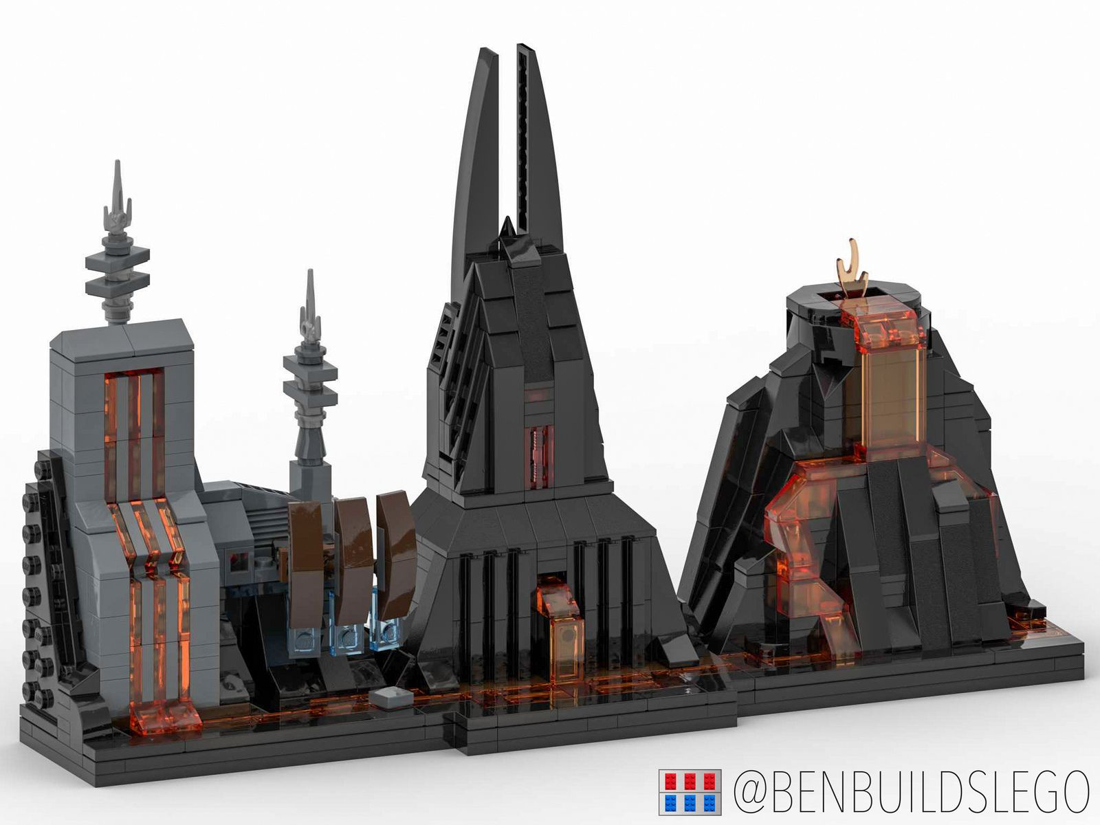 Lego Star Wars Mustafar Skyline Moc Lego Star Wars Mini Lego Worlds Lego Moc