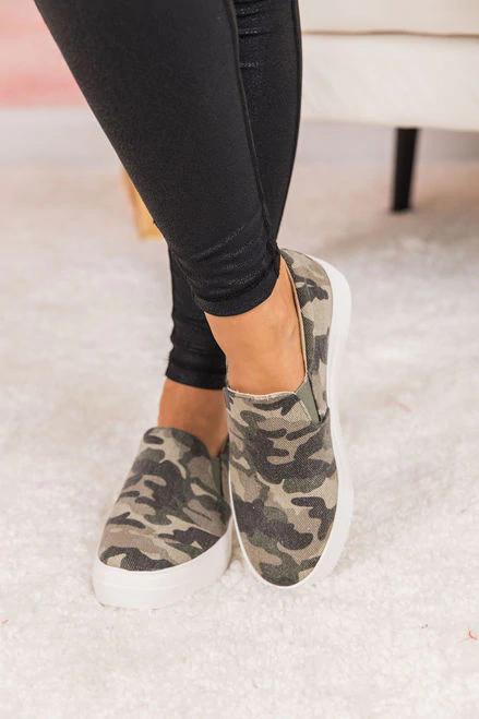 The Abigail Khaki Camo Sneakers in 2020