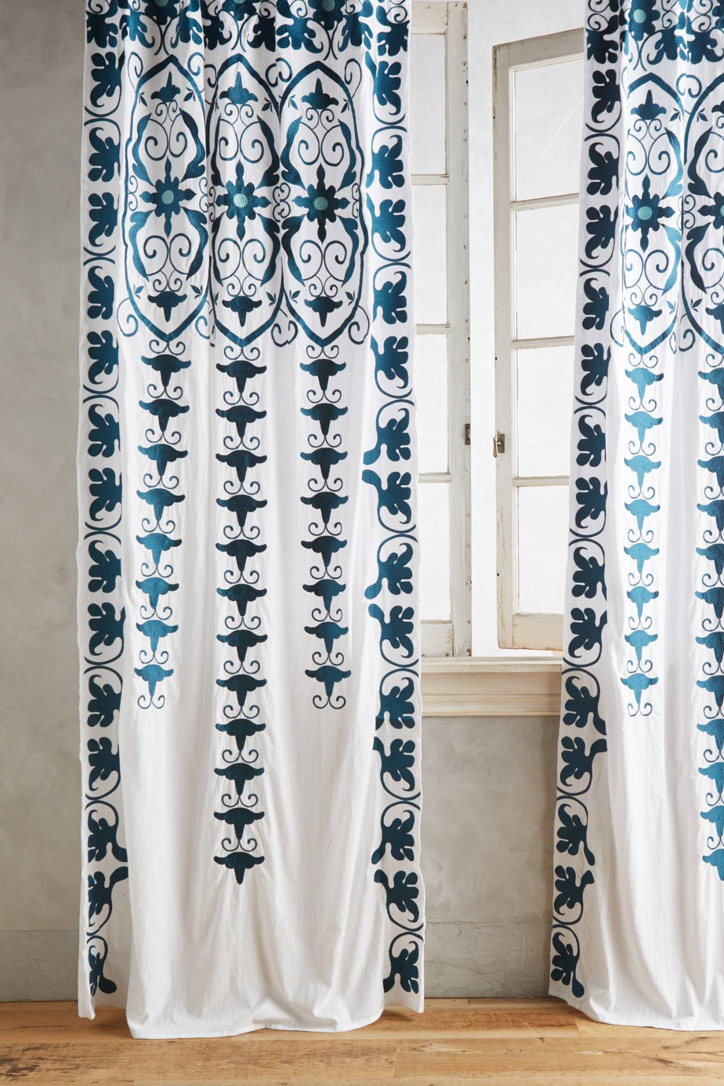 Antonella Curtain Curtains White Paneling Moroccan Curtains