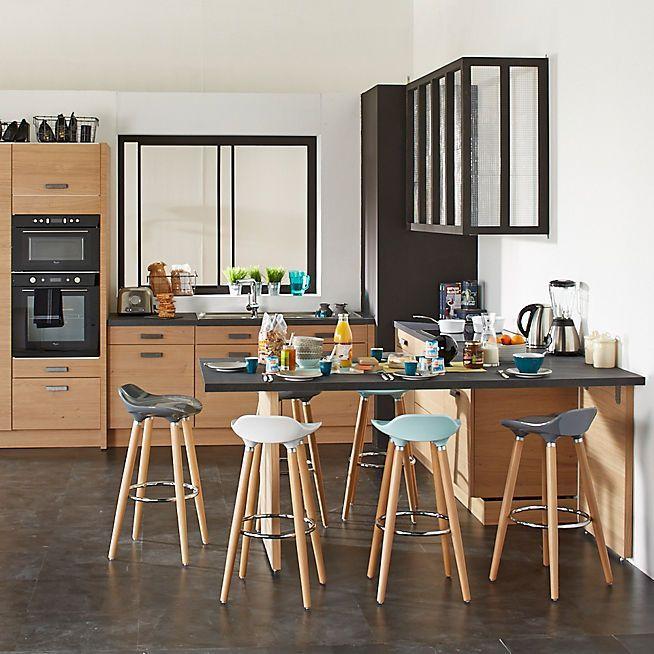 Résultat De Recherche Dimages Pour Table Bar Amenagement - Meuble cuisine pin naturel pour idees de deco de cuisine