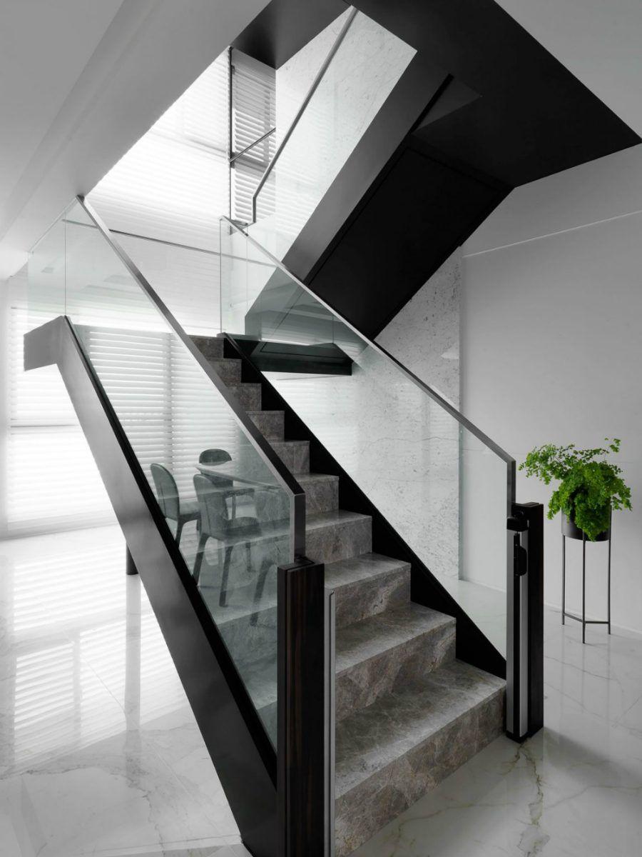 Dieses taiwanesische Apartment ist luxuriös zeitgenössisch ...