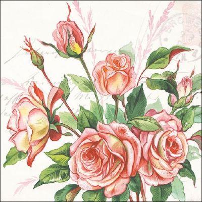 Papel 4x Servilletas Para Decoupage Craft Party-inglés Rosas
