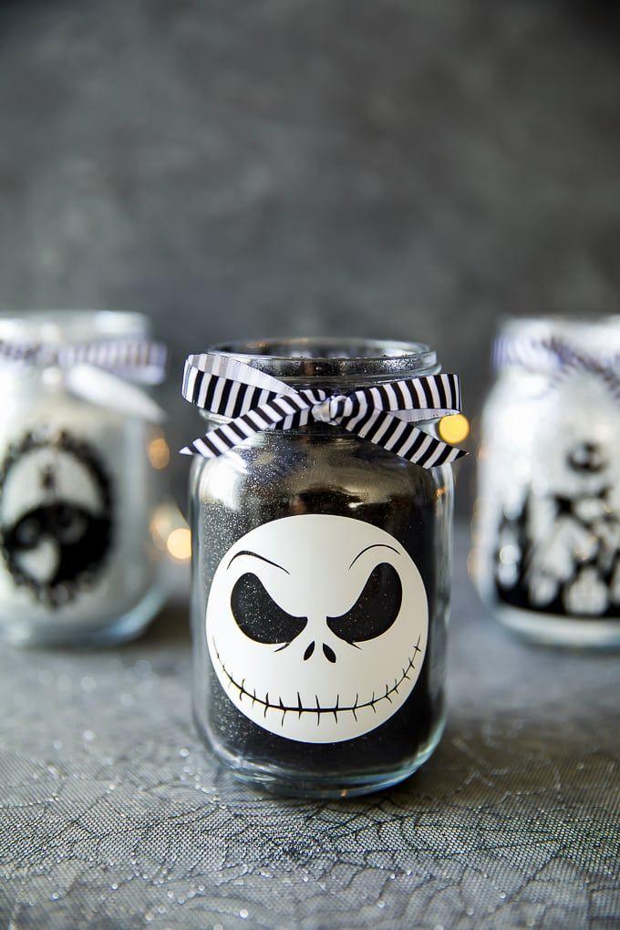 Nightmare before christmas wedding jars