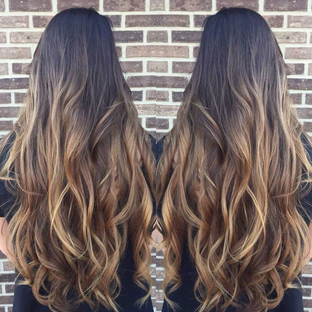 Baylage/Ombré dark brown to light brown | Hair | Pinterest