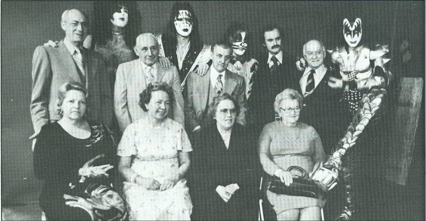 Original Kiss Members Their Mom Dads 1976 Awesome Kiss