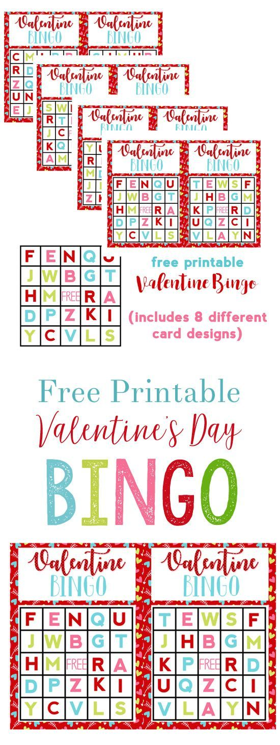 Valentineu0027s Day Game Idea {Alphabet Bingo Free Printable}