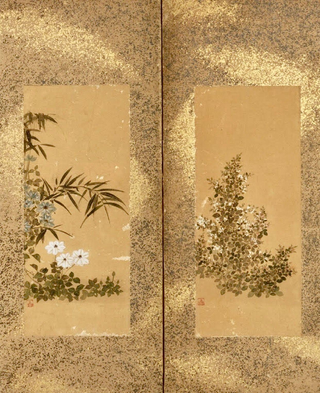 2018 年の sealed sosetsu or kitagawa sosetsu folding screen