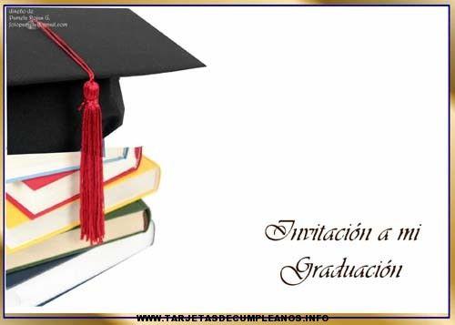 Diseños Para Invitaciones De Graduación Tarjetas De