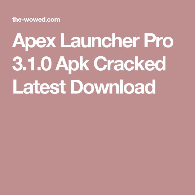 apex launcher apk pro download