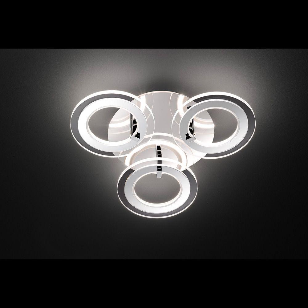 Led Deckenlampe Mit Drei Leuchtringen Und Einem Durchmesser Von 55 Cm Led Deckenlampen Led Deckenleuchte Und Deckenlampe