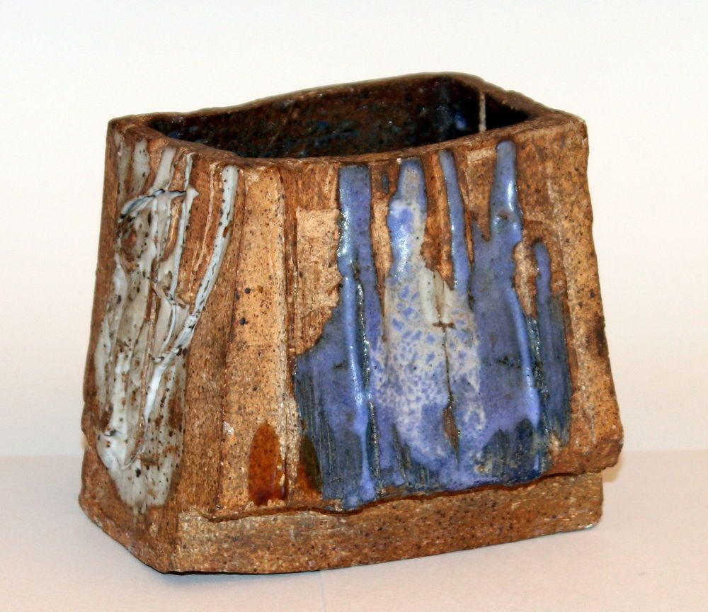Vintage studio art pottery slashed drip brutalist square slab vase vintage studio art pottery slashed drip brutalist square slab vase signed 1969 reviewsmspy