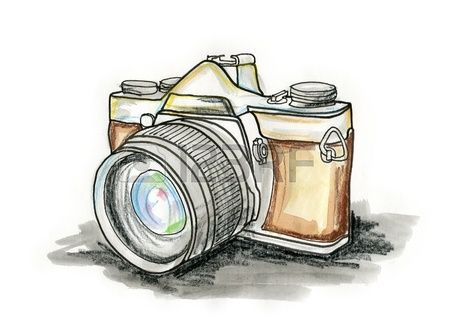 Stock Illustration | Dibujos camaras fotograficas, Cámara de fotos dibujo,  Dibujo de camara