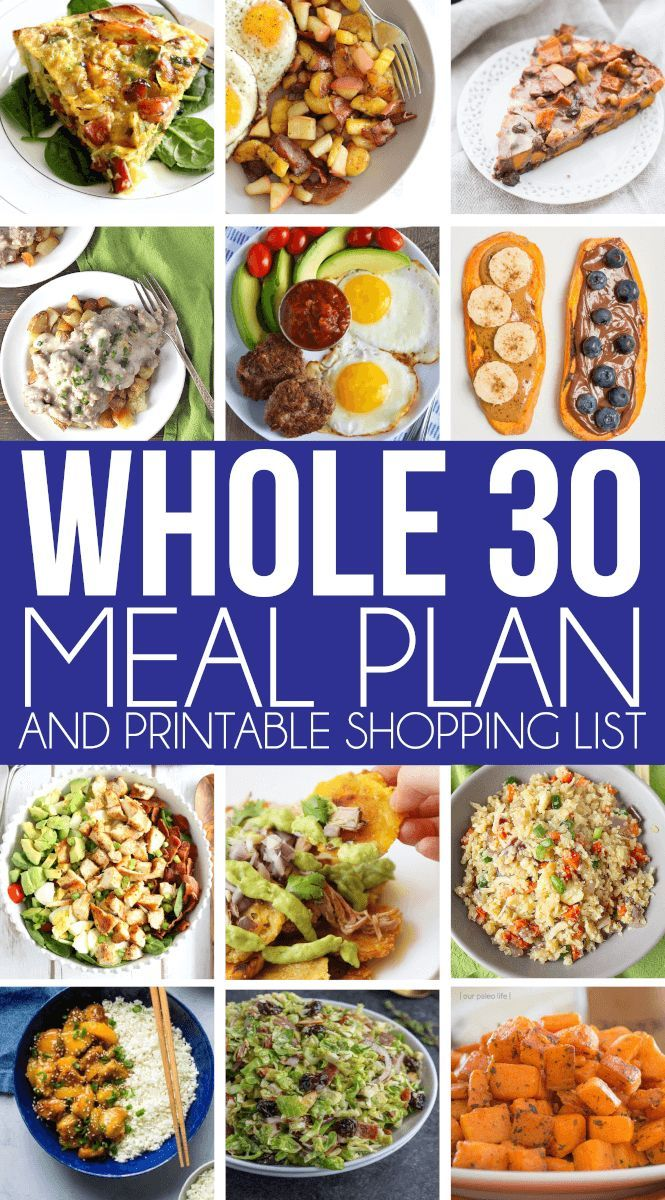 Whole 30 Meal Plan Breakfast Lunch And Dinner Whole 30 Meal Plan Whole 30 Recipes Whole 30 Diet