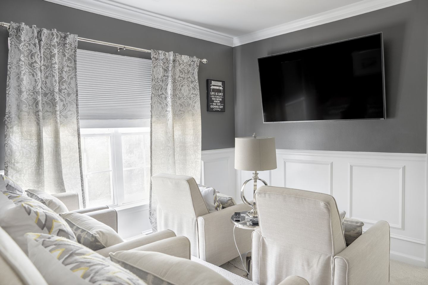 At Home With Nikki | DIY Media Room | Ideas | Pinterest | Room ...