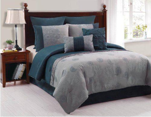Artistic Linen Amelle 8 Piece Matte Taffeta Comforter Set King