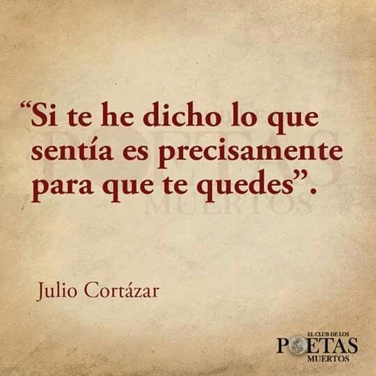 Para Que Te Quedes Amor Pinterest Julio Cortazar Julio