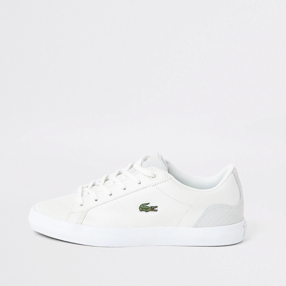 Lacoste White Leather Logo Trainer Lacoste Shoes Women Lacoste White Leather