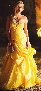 Rebekah vampire diaries the originals yellow dress