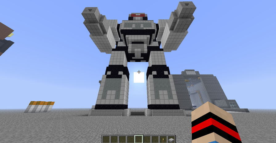 how to build a robot in minecraft