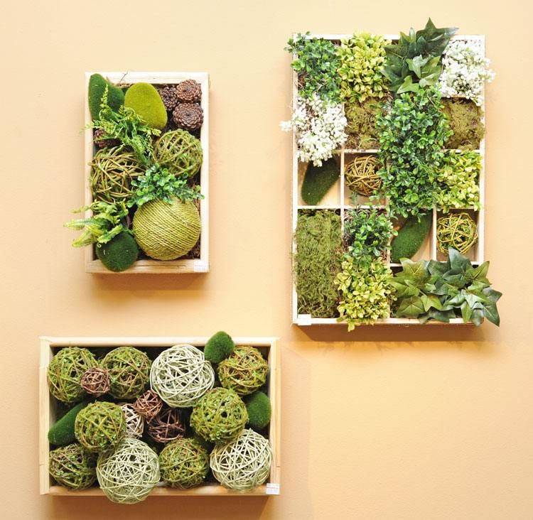 Mur v g tal conseils et photos inspirantes pour le cr er vous m me art floral greenery and - Mur vegetal interieur diy ...