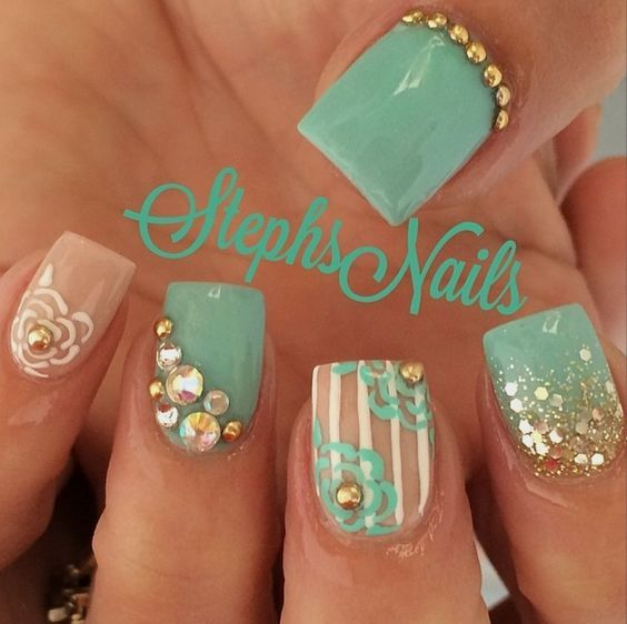 Instagram photo of acrylic nails by stephsnails | Beauté Mains ...