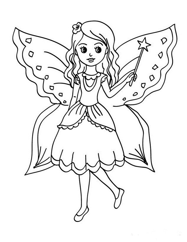 Ausmalbilder Feen 01 Coloring Pages Fee A