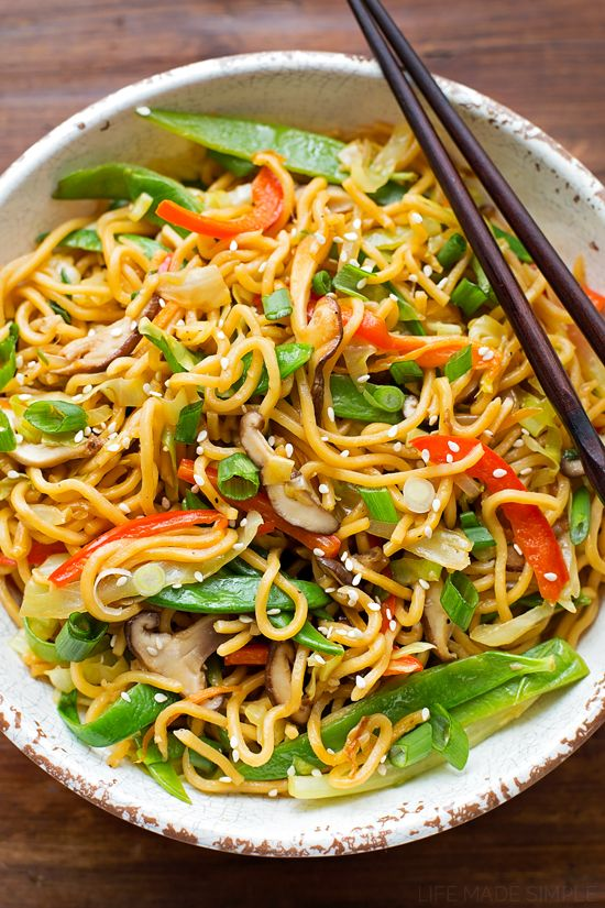 Easy Ramen Stir Fry with Vegetables - Life Made Simple
