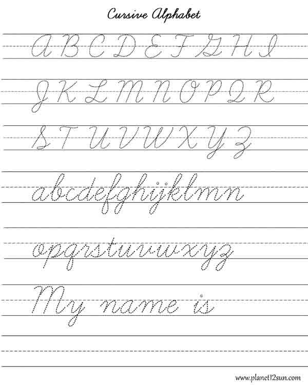 Learn Cursive Writing - Alphabet. | Free printable WORKSHEETS for ...