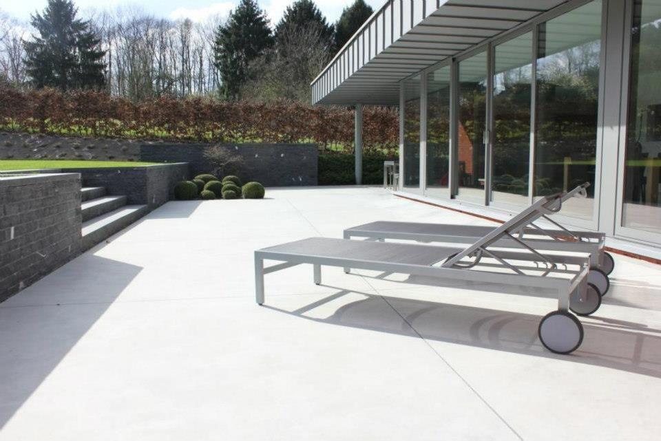 Voorbeeld hoogteverschil terras tuin tuin terras oprit