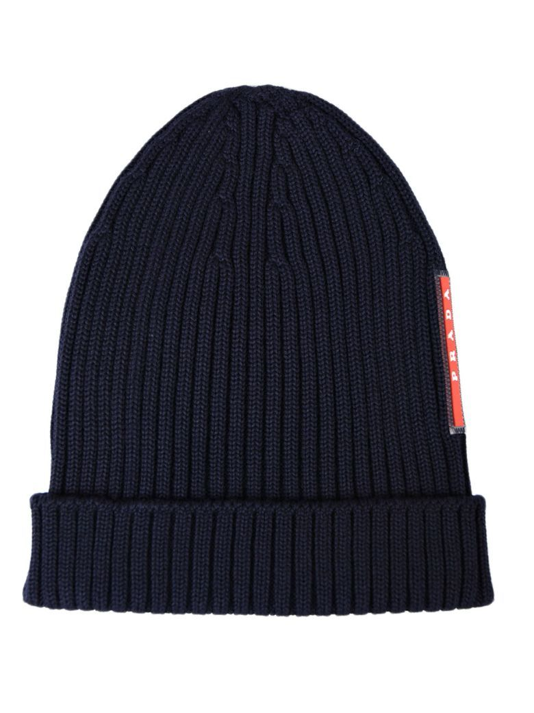 4c37927e35e Best price on the market at italist.com Prada Linea Rossa Bleu HATS ...
