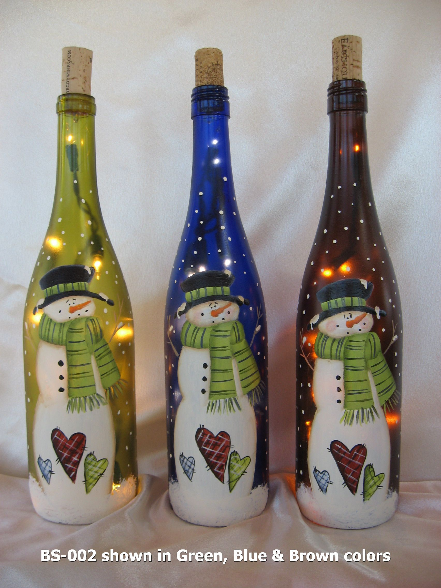 Click to close crafts pinterest botellas decoradas navidad y vidrio - Botellas decoradas navidenas ...