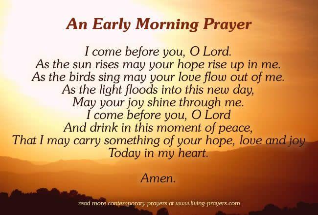 Short Morning Prayers- Good Inspirational Prayers