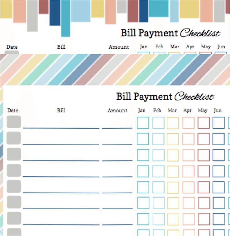 Free Printable Bill Calendar Templates An Organized Affair