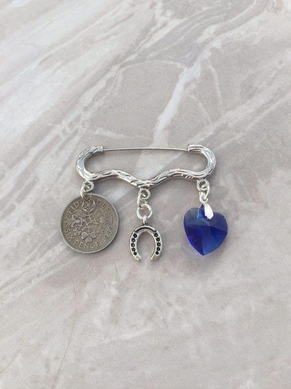 Something Blue Wedding Kilt Pin Something Old New Borrowed Blue Wedding Gifts Bridal Gift