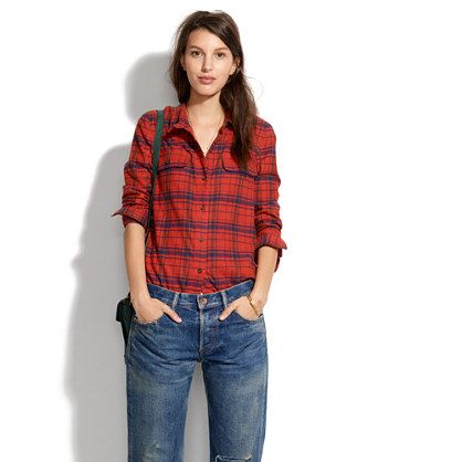 Flannel Tomboy Workshirt in Plaid #madewell | Madewell