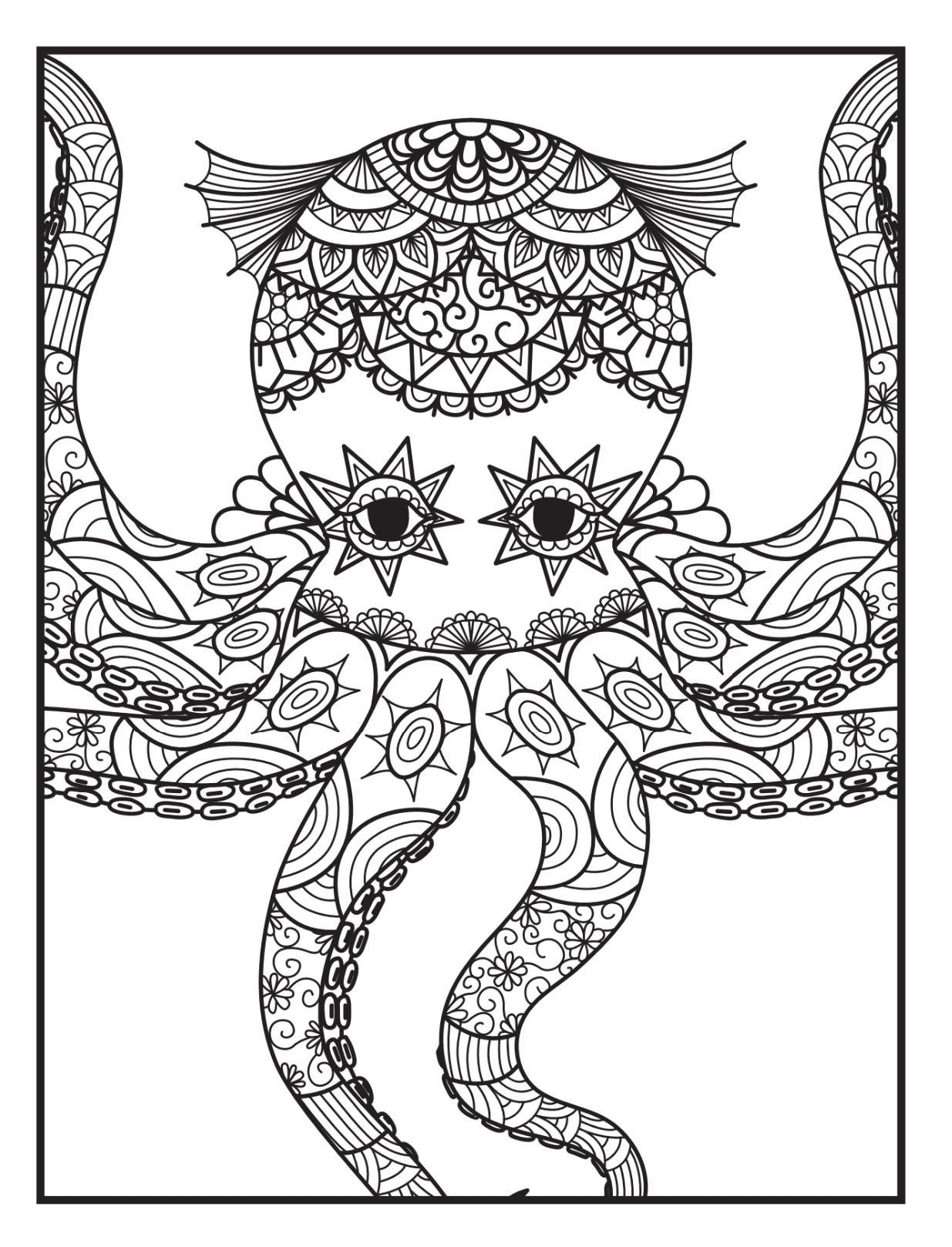 Amazon Adult Coloring Books Animal Mandala Designs And Stress Relieving Patterns For