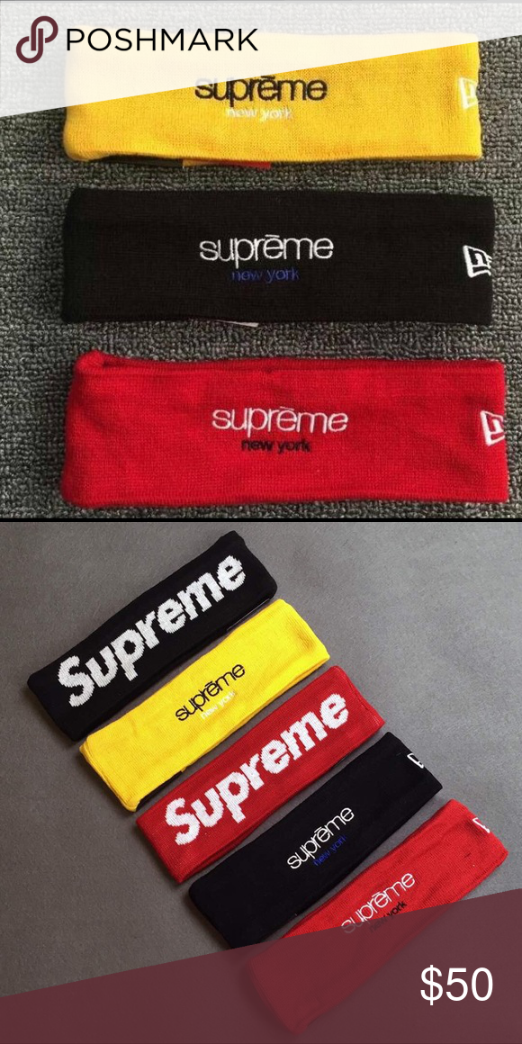 Supreme 15FW new era Headband- brand new Price is for one Headband - Brand  new with tags 1814723a274