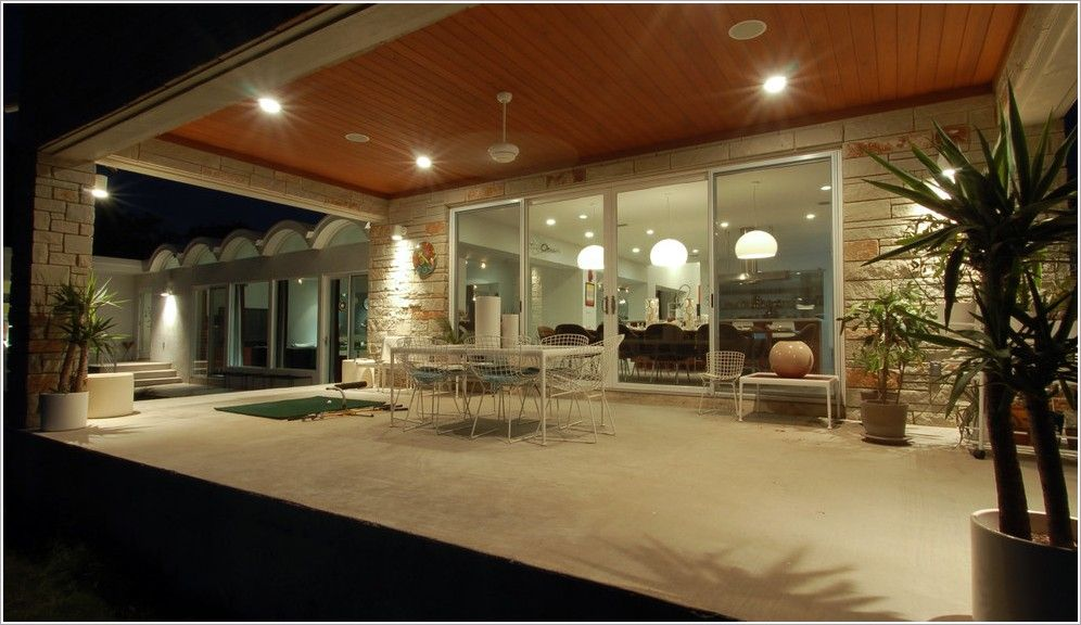 Create A Party Atmosphere With Outdoor Recessed Lighting Outdoor Recessed Lighting Modern Outdoor Dining Modern Patio Doors