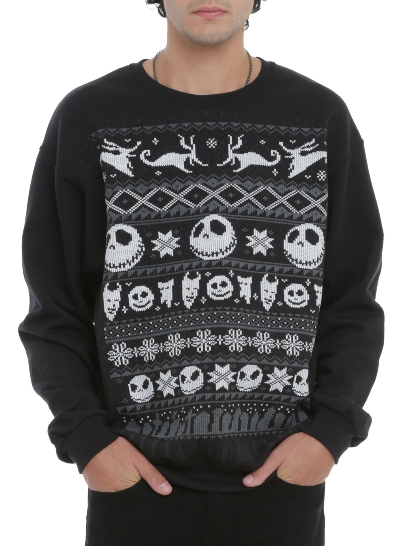 The Nightmare Before Christmas Fair Isle Crewneck Pullover 3XL ...