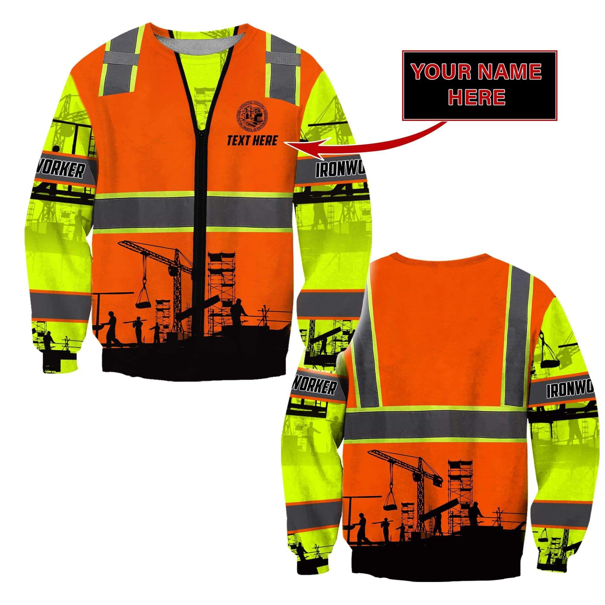 3D Premium Ironwork Logger Custom Name Unisex Shirts - Sweater / S