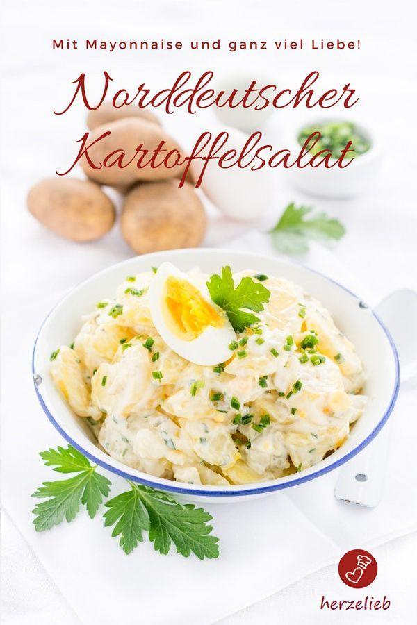 Rezept für leichten Kartoffelsalat mit Mayonnaise   Rezept   ***Ich ...