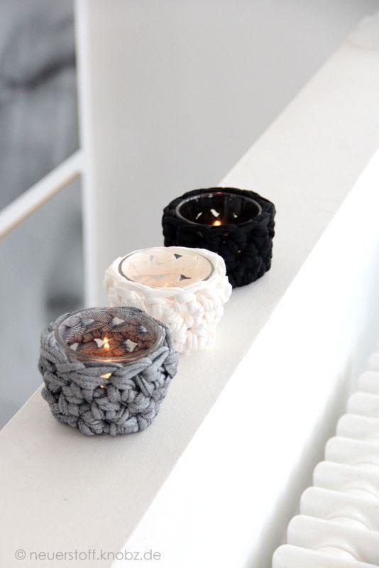 h kelanleitung die teelichter sind fertig h keln pinterest teelichter h kelanleitung. Black Bedroom Furniture Sets. Home Design Ideas