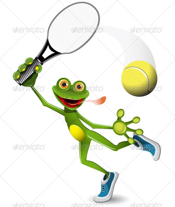 Frog Tennis Player  #GraphicRiver         illustration a merry green frog tennis player   vector EPS 10, AI 10 file, JPEG 4516×6273   3 layers   fully editable     Created: 30July13 GraphicsFilesIncluded: JPGImage #VectorEPS #AIIllustrator Layered: Yes MinimumAdobeCSVersion: CS Tags: alive #amphibious #animal #ball #cartoon #curiosity #decorator #eye #fauna #frog #funny #game #gecko #glance #green #illustration #jolly #joy #merry #mouth #nature #player #racket #smile #sports #tennis…