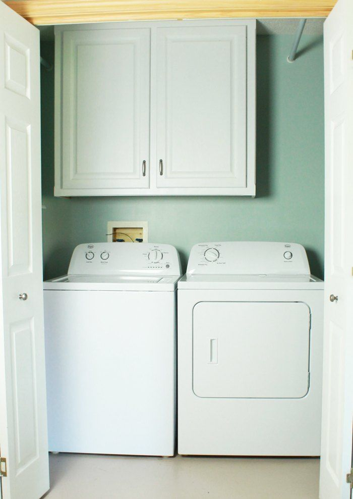 how to make your laundry closet feel like a laundry room, how to, laundry rooms, painting