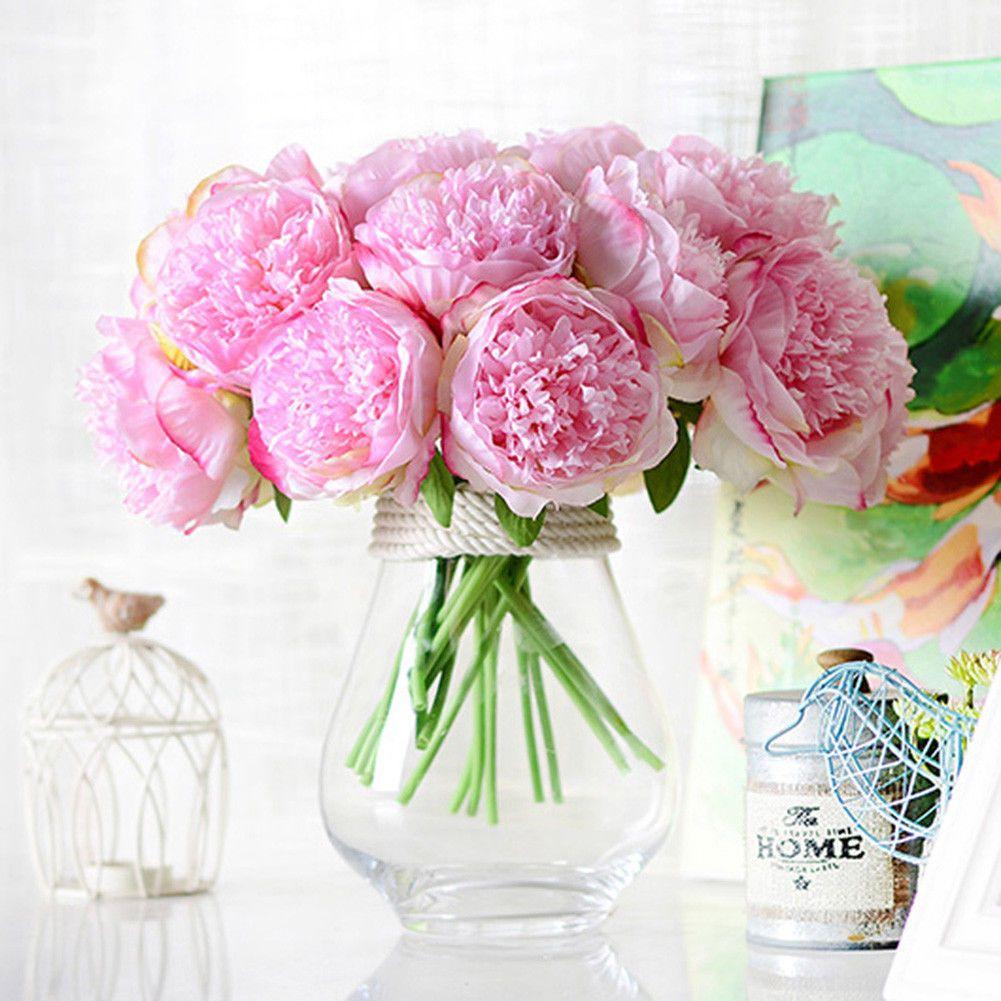 Artificial Fake Peony Silk Flower Bridal Hydrangea Home Wedding