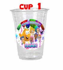 Bubble Guppies Birthday Cups Personalized and Handcrafted Set of 12 Tableware Party Cups Favors Bubble Guppies Party Supplies by TracysBirthdayShop on Etsy https://www.etsy.com/listing/152681552/bubble-guppies-birthday-cups