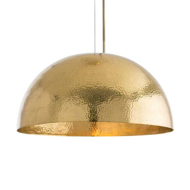 Arteriors Mambo Golden Brass Dome Pendant Light Theme