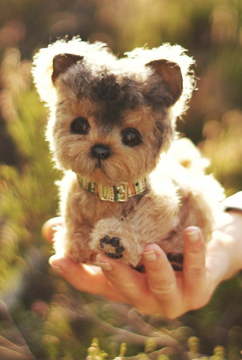 Yorkshire Terrier, puppy stuffed animal, plush dog, dog