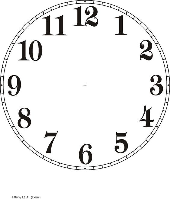 Printable Clock Templates Here are a few examples Clocks